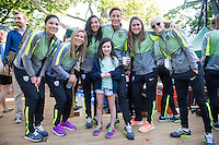 New York, NY - May 2, 2015: The USWNT appeared on Good Morning America in Central Park.