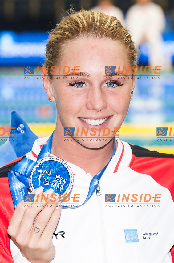 OTTESEN Jeanette DEN silver medal<br /> Women's 50m butterfly final<br /> Netanya, Israel, Wingate Institute<br /> LEN European Short Course Swimming Championships  Dec. 2 - 6, 2015 Day02 Dec. 3nd<br /> Nuoto Campionati Europei di nuoto in vasca corta<br /> Photo Insidefoto