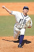 28 February 2010:  FIU's Eric Berkowitz (2) pitches in the sixth inning as the FIU Golden Panthers defeated the Oral Roberts Golden Eagles, 7-6 (10 innings), at University Park Stadium in Miami, Florida.