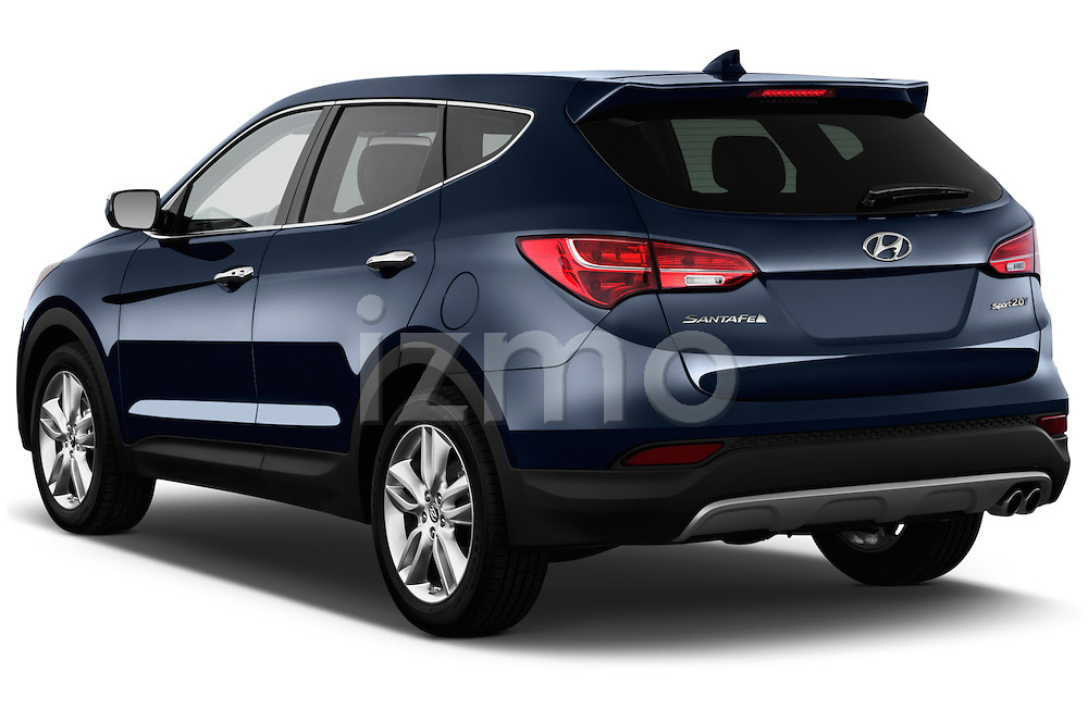 Rear three quarter view of a 2013 Hyundai Santa Fe Sport