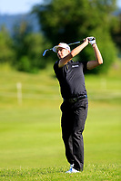 Matthias Schwab (AUT) during the first round of the Lyoness Open powered by Organic+ played at Diamond Country Club, Atzenbrugg, Austria. 8-11 June 2017.<br /> 08/06/2017.<br /> Picture: Golffile | Phil Inglis<br /> <br /> <br /> All photo usage must carry mandatory copyright credit (&copy; Golffile | Phil Inglis)