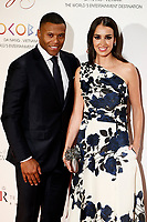 Julio Baptista and Silvia Nistal Calvo attends the photocall of the second Global Gift gala at the Royal Theater in Madrid, Spain. April 04, 2017. (ALTERPHOTOS / Rodrigo Jimenez)