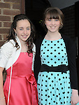 Lauren Macken and Naoise McConnon who were confirmed in the church of the Nativity of Our Lady Ardee. Photo: Colin Bell/pressphotos.ie
