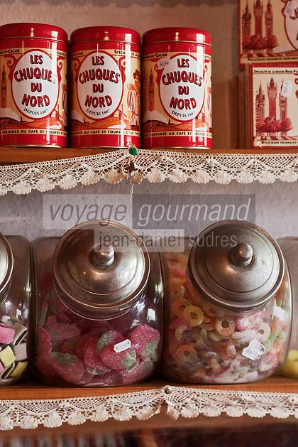 Europe/France/Nord-Pas-de-Calais/59/Nord/Craywick: Estaminet Saint-Gilles - détail de l'épicerie traditionnelle