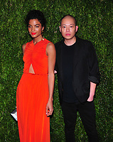 NEW YORK, NY - November 5: India Moore, Jason Wu attends FDA / Vogue Fashion Fund 15th Anniversary event at Brooklyn Navy Yard on November 5, 2018 in Brooklyn, New York <br /> CAP/MPI/PAL<br /> &copy;PAL/MPI/Capital Pictures