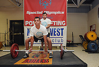 STAFF PHOTO SAMANTHA BAKER &bull; @NWASAMANTHA<br /> Sowers cross trained as a weightlifter in the beginning of his triathlon journey. He practiced deadlifting and bench press and competed Saturday, April 12, 2014, at Ramay Junior High School in Fayetteville during the Area 3 games..
