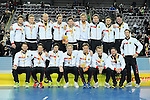 Leipzig, Germany, February 08: Team of Germany pose with their bronze medals at the FIH Indoor Hockey Men World Cup on February 8, 2015 at the Arena Leipzig in Leipzig, Germany. (Photo by Dirk Markgraf / www.265-images.com) *** Local caption ***