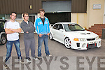 REF SINEAD..PLEASE BLANK OUT THE REG ON THE NUMBER PLATE....Some of the faces behind the successful AMF Slideways Performance held in Cahersiveen on Saturday night, pictured here l-r; Alan Cournane, Francois Clees & Mathew Beardges.