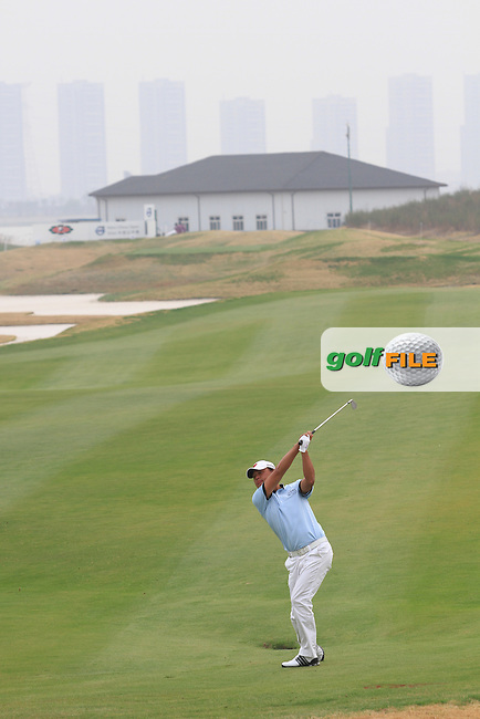 Chen Xiao-ma (CHN) on the 9th on Day 1 of the 2012 Volvo China Open at Binhai Lake Golf Club, Tianjin, China...(Photo Jenny Matthews/www.golffile.ie)