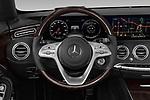 Car pictures of steering wheel view of a 2019 Mercedes Benz S-Class S-560 2 Door Convertible Steering Wheel