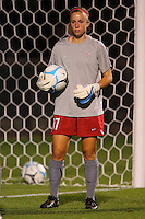14 September 2007: Stanford Cardinal Erica Holland during Stanford's 3-2 win in the Stanford Invitational against the Missouri Tigers at Maloney Field in Stanford, CA.