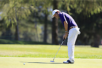 Thomas Aiken (RSA) putts on the 5th green during Saturday's Round 3 of the 2018 Omega European Masters, held at the Golf Club Crans-Sur-Sierre, Crans Montana, Switzerland. 8th September 2018.<br /> Picture: Eoin Clarke | Golffile<br /> <br /> <br /> All photos usage must carry mandatory copyright credit (&copy; Golffile | Eoin Clarke)