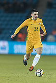 23rd March 2018, Ullevaal Stadion, Oslo, Norway; International Football Friendly, Norway versus Australia; Tom Rogic of Australia in midfield action
