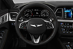 Car pictures of steering wheel view of a 2018 Genesis G80 Sport 4 Door Sedan