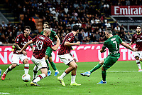 Franck Ribery of Fiorentina scores the goaal of 0-3 for his side <br /> Milano 29/09/2019 Stadio Giuseppe Meazza <br /> Football Serie A 2019/2020 <br /> AC Milan - ACF Fiorentina   <br /> Photo Image Sport / Insidefoto