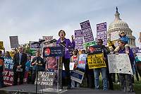 United States Senator Elizabeth Warren (Democrat of Massachusetts) speaks during a rally led by United States Congressional Democrats against United States President Donald J. Trump's proposed tax plan outside the United States Capitol in Washington, D.C. on November 1st, 2017.<br /> Credit: Alex Edelman / CNP /MediaPunch