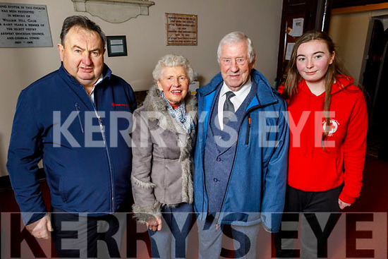 Liam Mulvihill, Mary Kinch, Kevin Woods and Anna Marie O'Donnell attending the Tralee branch of the Red Cross Christmas Concert at St Johns in Ashe Street.