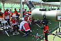 (L-R)<br /> Kaori Kawanaka, <br /> Saori Nagamine,<br /> Yuki Hayashi (JPN), <br /> AUGUST 5, 2016 - Archery : <br /> Women's Individual Ranking Round <br /> at Sambodromo<br /> during the Rio 2016 Olympic Games in Rio de Janeiro, Brazil. <br /> (Photo by Koji Aoki/AFLO SPORT)