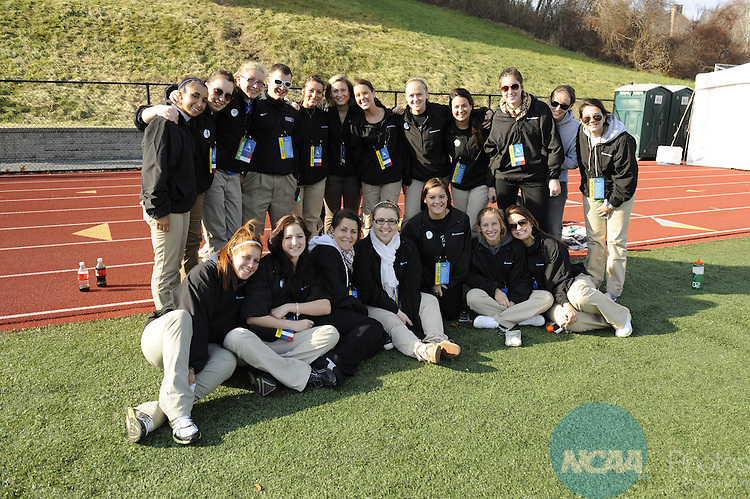 20 NOV 2011:  The College of New Jersey takes on Middlebury College during the Division III Women's Field Hockey Championship held at Vendetti Field on the Nichols College campus in Dudley, MA.  The College of New Jersey defeated Middlebury College 3-1 to win the national title.  Gil Talbot/ NCAA Photos.