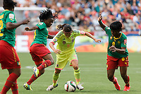 June 12, 2015: Nahomi KAWASUMI of Japan controls the ball during a Group C match at the FIFA Women's World Cup Canada 2015 between Cameroon and Japan at BC Place Stadium on 12 June 2015 in Vancouver, Canada. Japan won 2-1. Sydney Low/AsteriskImages