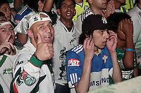 SÃO PAULO,  11 de JULHO, 2012 - FINAL COPA  DO BRASIL - PALMEIRAS X CORITIBA- Torcedores Palmeirenses lotam a quadra da Mancha Verde  para assistirem o final do Campeonato Copa do Brasil - Barra Funda, na região oeste da capital, nesta quarta- feira, 11 - FOTO LOLA OLIVEIRA - BRAZIL PHOTO PRESS