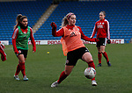 Maddy Cusack of Sheffield Utd warm up during the The FA Women's Championship match at the Proact Stadium, Chesterfield. Picture date: 8th December 2019. Picture credit should read: Simon Bellis/Sportimage