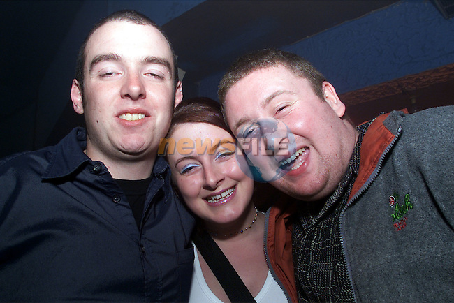 Ollie Smith, Clare Ryan and Kevin Murphy pictured enjoying a night in Fusion..Picture:Arthur Carron
