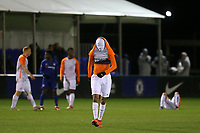 Samy Benchama of Montpellier shows his disappointment at the final whistle after losing 2-1 during Chelsea Under-19 vs Montpellier HSC Under-19, UEFA Youth League Football at the Cobham Training Ground on 13th March 2019