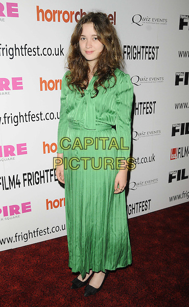 Alice Englert<br /> attended the &quot;In Fear&quot; UK film premiere, Film4 FrightFest film festival day 4, Empire cinema, Leicester Square, London, England.<br /> August 25th, 2013<br /> full length green maxi dress<br /> CAP/CAN<br /> &copy;Can Nguyen/Capital Pictures