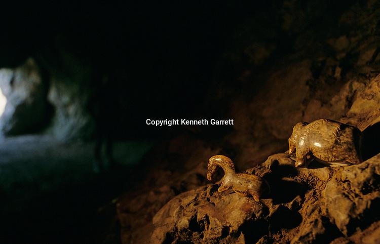 PERMISSION NEEDED - Carved Horse & Mammoth, 32000 yrs old, From Volgelherd Cave, Eberhard-Karls Univ., Tubingen , Germany