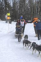 Rick Swenson Anchorage Start Iditarod 2008.