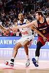 Real Madrid's Anthony Randolph and FC Barcelona Lassa's Victor Claver duringTurkish Airlines Euroleague match between Real Madrid and FC Barcelona Lassa at Wizink Center in Madrid, Spain. March 22, 2017. (ALTERPHOTOS/BorjaB.Hojas)