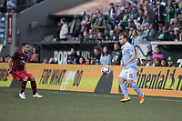 Portland, Oregon - Saturday, April 15, 2017: Portland Timbers vs Sporting Kansas City match at Providence Park. Final Score: Portland Timbers 0, Sporting Kansas City 1