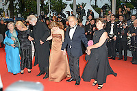 "Emmanuelle Riva, Susanne Haneke,  Michael Haneke, Isabelle Huppert, Jean-Louis Trintignant and Nadine Trintignant attending the ""Amour"" Premiere during the 65th annual International Cannes Film Festival in Cannes, France, 20th May 2012..Credit: Timm/face to face /MediaPunch Inc. ***FOR USA ONLY***"