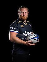 Ross Batty poses for a portrait at a Bath Rugby photocall. Bath Rugby Media Day on August 24, 2016 at Farleigh House in Bath, England. Photo by: Rogan Thomson / JMP / Onside Images