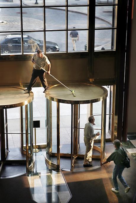 CLEAN SWEEP.  Corporate maintenance