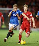 08.05.2018 Aberdeen v Rangers: Ross McCrorie and Gary Mackay-Steven