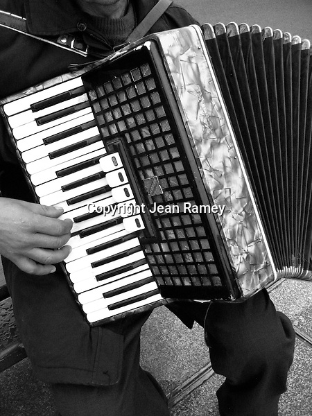 Accordian street musician