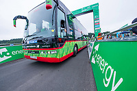 Picture by Allan McKenzie/SWpix.com - 04/09/2017 - Cycling - OVO Energy Tour of Britain - Stage 2 Kielder Water to Blyth - Cannondale team bus, OVO Energy, branding.