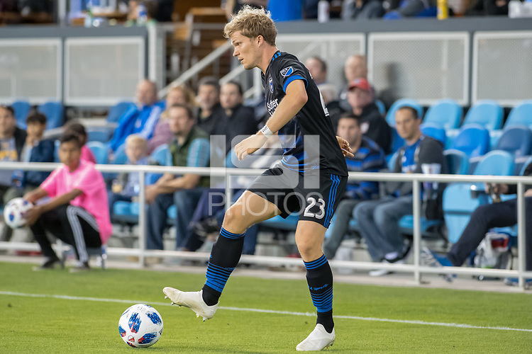 San Jose, CA - Thursday January 21, 2016: Florian Jungwirth during a Major League Soccer (MLS) match between the San Jose Earthquakes and the New York Red Bulls at Avaya Stadium.