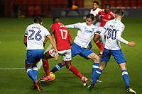 Joe Aribo of Charlton Athletic bursts through the Portsmouth defence during Charlton Athletic vs Portsmouth, Checkatrade Trophy Football at The Valley on 7th November 2017
