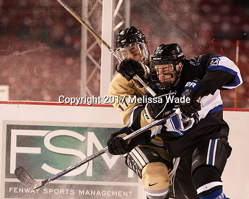 Taylor Maruya (Army - 17), Ryner Gorowsky (Bentley - 22) - The Bentley University Falcons defeated the Army West Point Black Knights 3-1 (EN) on Thursday, January 5, 2017, at Fenway Park in Boston, Massachusetts.The Bentley University Falcons defeated the Army West Point Black Knights 3-1 (EN) on Thursday, January 5, 2017, at Fenway Park in Boston, Massachusetts.