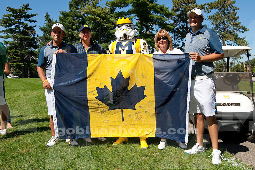 The University of Michigan men's golf team won the Michigan Intercollegiate Tournament at the University of Michigan Golf Course in Ann Arbor, Mich., on Sept. 7, 2014.