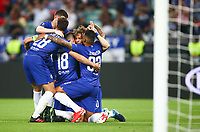 BAKU,AZERBAIJAN,29.MAY.19 - SOCCER - UEFA Europa League, final, Chelsea FC vs Arsenal FC. Image shows the rejoicing of Chelsea. <br /> Celebration after goal  <br /> Photo: GEPA pictures/ Christopher Kelemen / Insidefoto