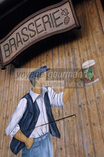 Europe/France/Nord-Pas-de-Calais/59/Nord/Flandre/Bailleul/Eeckelstraete: Détail de la brasserie de la ferme Beck