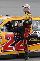 May 4, 2007; Richmond, VA, USA; Nascar Nextel Cup Series driver Dave Blaney (22) during qualifying for the Jim Stewart 400 at Richmond International Raceway. Mandatory Credit: Mark J. Rebilas