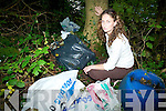 DUMPING: Sinn Fe?in's Lynn Ni? Bhaoighealla?in inspecting some of the material illegally dumped along the banks of the Laune in Killorglin.   Copyright Kerry's Eye 2008