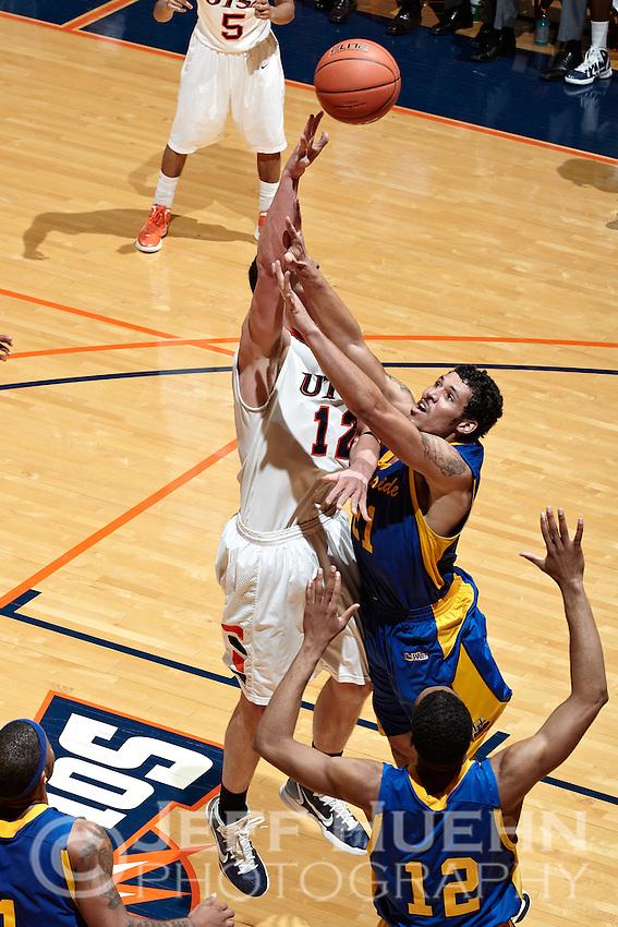 SAN ANTONIO, TX - DECEMBER 28, 2011: The University of California Riverside Highlanders vs. The University of Texas at San Antonio Roadrunners Men's Basketball at the UTSA Convocation Center. (Photo by Jeff Huehn)