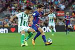 League Santander 2017/2018. Game: 01.<br /> FC Barcelona vs Real Betis: 2-0.<br /> Juanjo Narvaez vs Sergi Roberto.