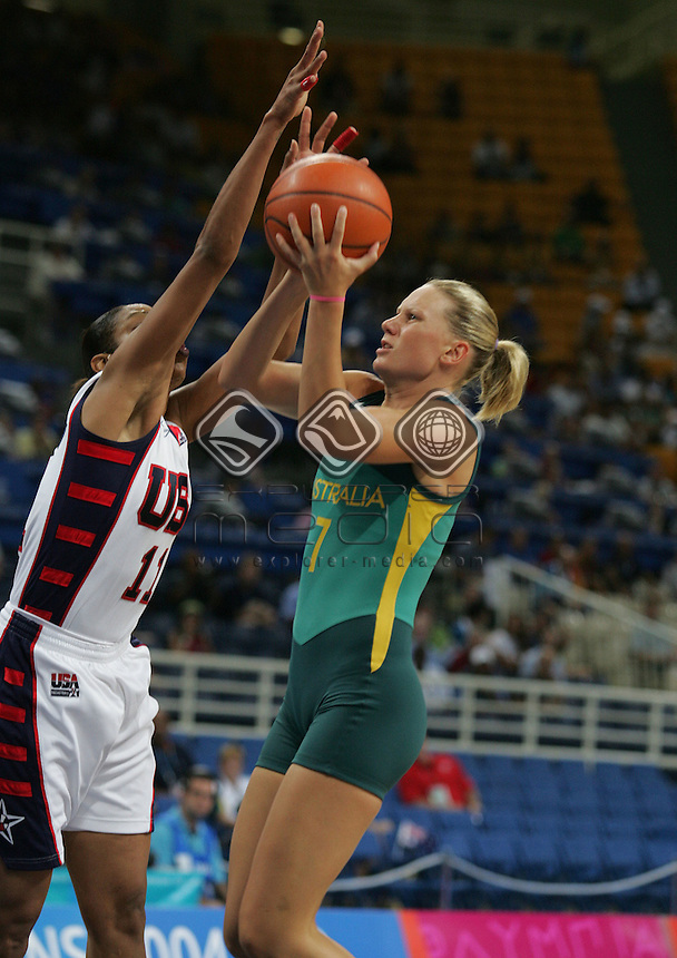 Penny Taylor (AUS). USA won 74-63<br /> Basketball - Women's Gold Medal Match, AUS vs USA<br /> Summer Olympics - Athens, Greece 2004<br /> Day 15, 28th August 2004.<br /> &copy; Sport the library/Sandra Teddy